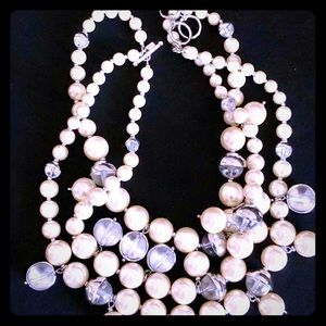 Banana Republic Pearl Multi Strand Necklace